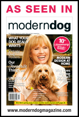 Mountain Dog Chews is featured in Modern Dog Magazine